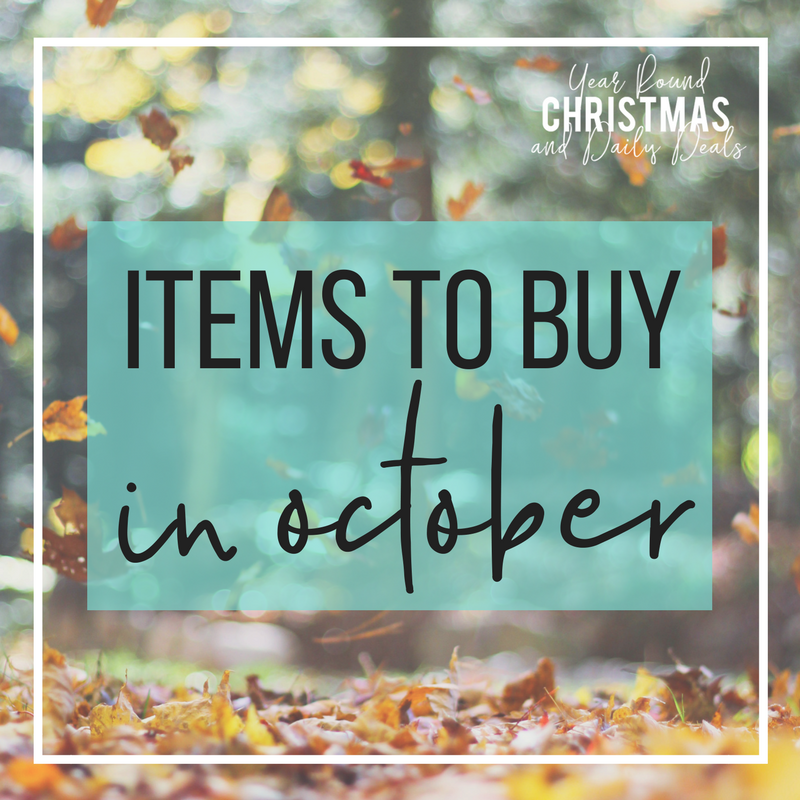 Items to Buy In October