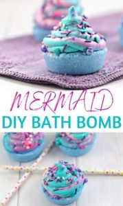 Mermaid Bath Bomb - Pin Image