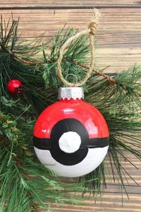 pokemon go christmas ornament