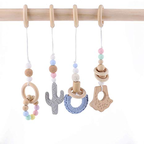Wooden Baby Play Gym Mobiles Activity Gym