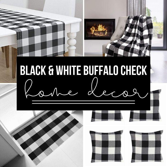 black and white buffalo check decor
