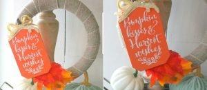 diy fall wreath on table