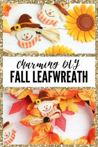 Easy DIY Fall Leaf Wreath - Pin Image