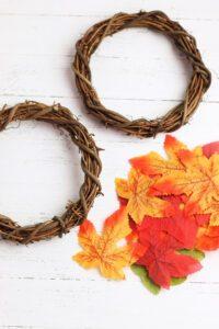 supplies for DIY fall wreath