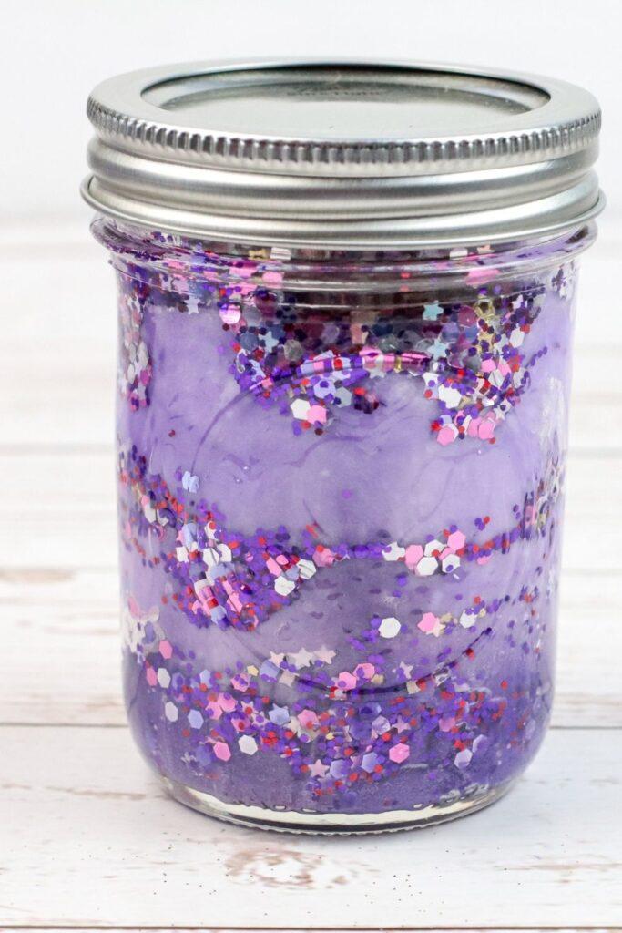 nebula galaxy jar on counter