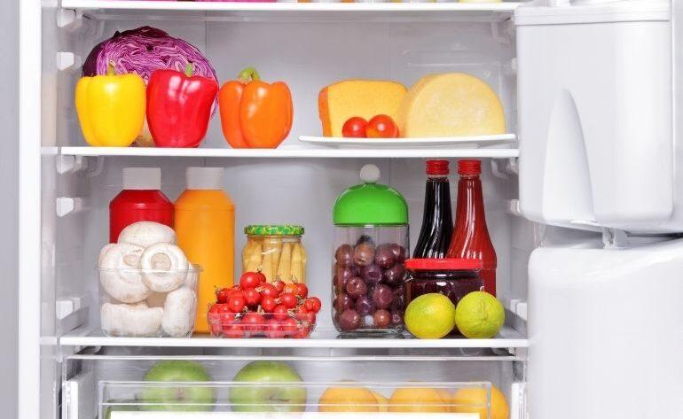 refrigerator opened up