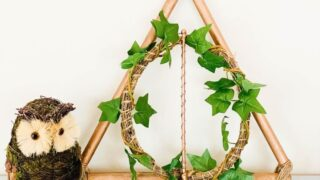 Harry Potter Wreath on white table