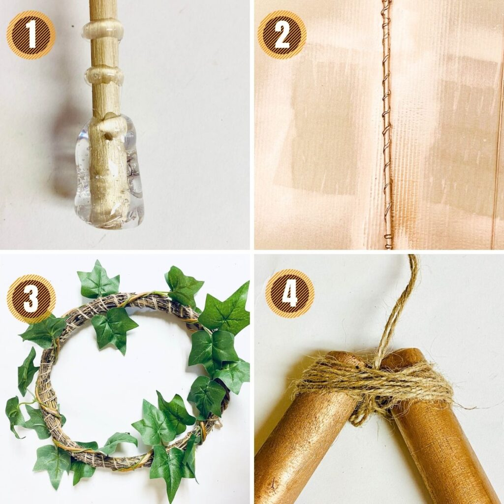 collage on how to make a harry potter wreath