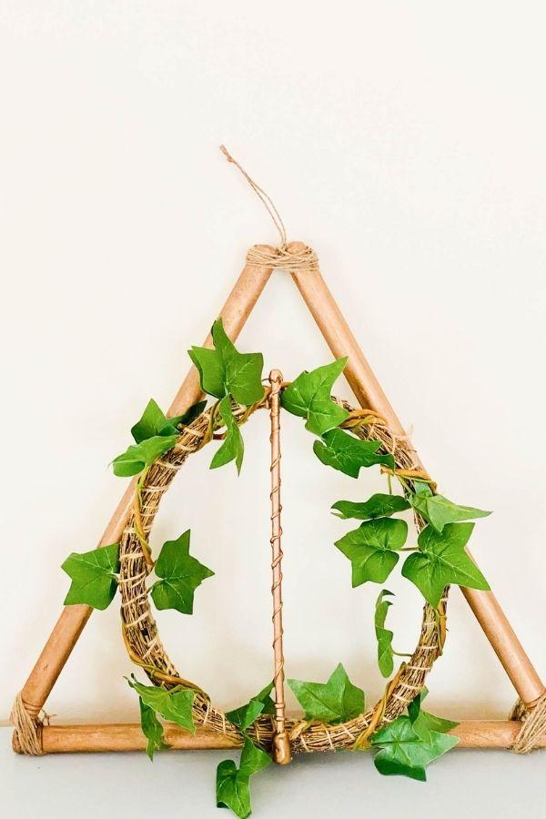 deathly hollows wreath